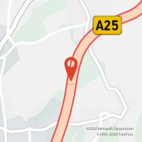 Mapa com localização da Loja CTTA. S. AVEIRO (V/A) - POENTE