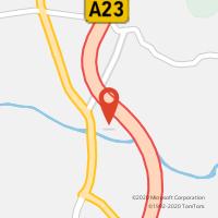 Mapa com localização da Loja CTTA23 FUNDÃO ( FND / CBR ) POENTE II