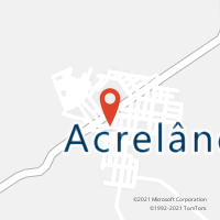 Mapa com localização da Agência AC ACRELANDIA