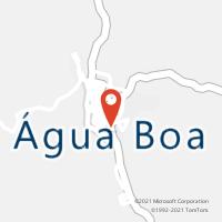 Mapa com localização da Agência AC AGUA BOA