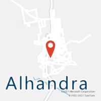 Mapa com localização da Agência AC ALHANDRA