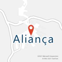 Mapa com localização da Agência AC ALIANCA