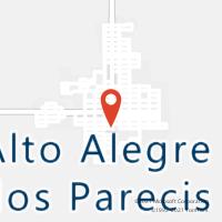 Mapa com localização da Agência AC ALTO ALEGRE DOS PARECIS