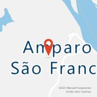 Mapa com localização da Agência AC AMPARO DE SAO FRANCISCO