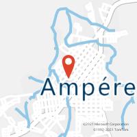 Mapa com localização da Agência AC AMPERE
