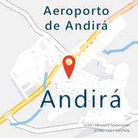 Mapa com localização da Agência AC ANDIRA