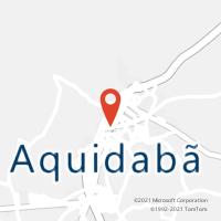 Mapa com localização da Agência AC AQUIDABA