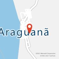 Mapa com localização da Agência AC ARAGUANA