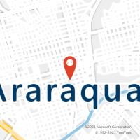 Mapa com localização da Agência AC ARARAQUARA