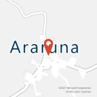 Mapa com localização da Agência AC ARARUNA