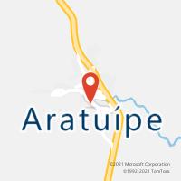Mapa com localização da Agência AC ARATUIPE