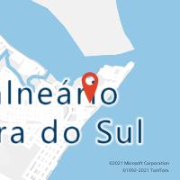 Mapa com localização da Agência AC BALNEARIO BARRA DO SUL
