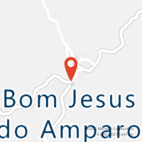 Mapa com localização da Agência AC BOM JESUS DO AMPARO