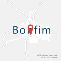 Mapa com localização da Agência AC BONFIM