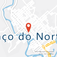 Mapa com localização da Agência AC BRACO DO NORTE