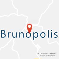 Mapa com localização da Agência AC BRUNOPOLIS