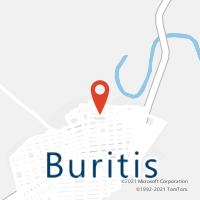 Mapa com localização da Agência AC BURITIS
