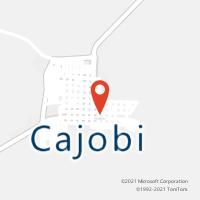 Mapa com localização da Agência AC CAJOBI