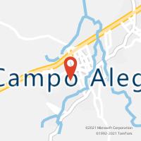 Mapa com localização da Agência AC CAMPO ALEGRE