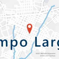 Mapa com localização da Agência AC CAMPO LARGO