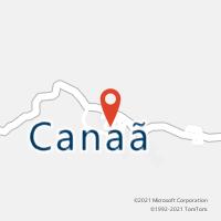Mapa com localização da Agência AC CANAA