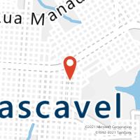 Mapa com localização da Agência AC CASCAVEL