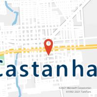 Mapa com localização da Agência AC CASTANHAL