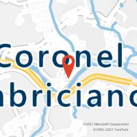 Mapa com localização da Agência AC CORONEL FABRICIANO
