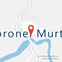 Mapa com localização da Agência AC CORONEL MURTA