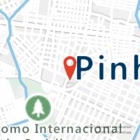 Mapa com localização da Agência AC COTRIGUACU