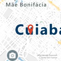 Mapa com localização da Agência AC COXIPO DA PONTE