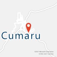 Mapa com localização da Agência AC CUMARU