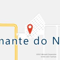 Mapa com localização da Agência AC DIAMANTE DO NORTE