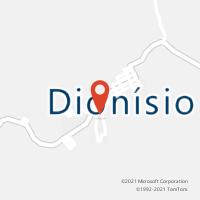 Mapa com localização da Agência AC DIONISIO
