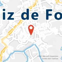 Mapa com localização da Agência AC DOM CAVATI