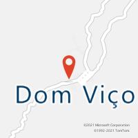Mapa com localização da Agência AC DOM VICOSO