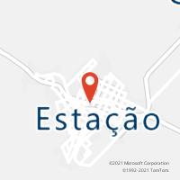 Mapa com localização da Agência AC ESTACAO