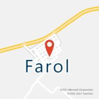 Mapa com localização da Agência AC FAROL