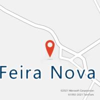 Mapa com localização da Agência AC FEIRA NOVA