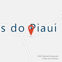 Mapa com localização da Agência AC FLORES DO PIAUI