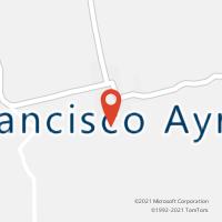 Mapa com localização da Agência AC FRANCISCO AYRES
