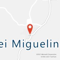 Mapa com localização da Agência AC FREI MIGUELINHO