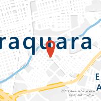 Mapa com localização da Agência AC GAVIAO PEIXOTO