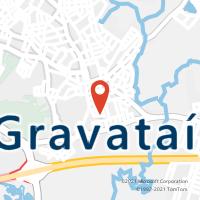 Mapa com localização da Agência AC GRAVATAI