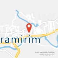 Mapa com localização da Agência AC GUARAMIRIM