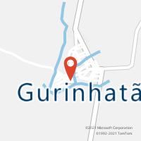 Mapa com localização da Agência AC GURINHATA