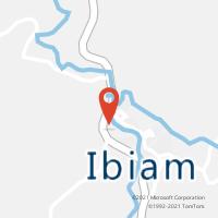 Mapa com localização da Agência AC IBIAM
