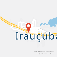Mapa com localização da Agência AC IRAUCUBA