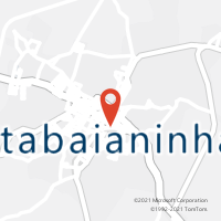 Mapa com localização da Agência AC ITABAIANINHA