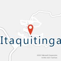 Mapa com localização da Agência AC ITAQUITINGA